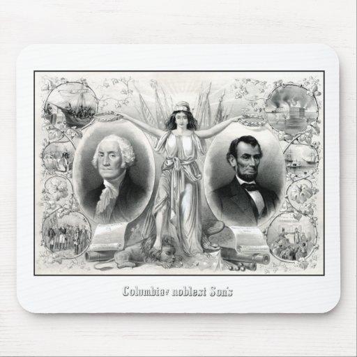 Presidents Washington and Lincoln Mousepads