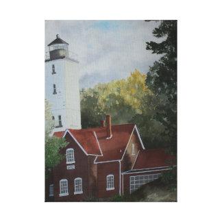 Presque Ilse Lighthouse Canvas Print