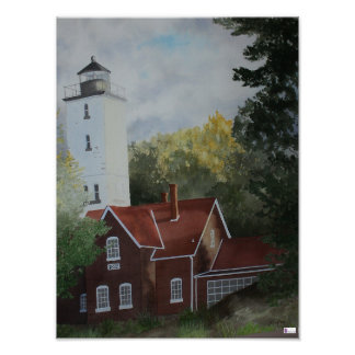 Presque Ilse Lighthouse Print