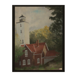 Presque Ilse Lighthouse Wood Wall Art