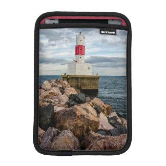 Presque Isle Harbor Breakwater Lighthouse iPad Mini Sleeve