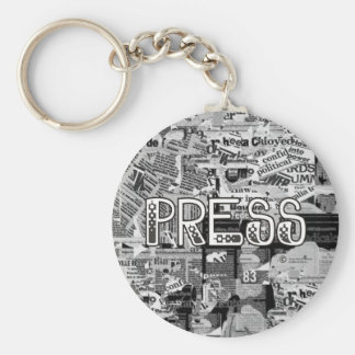 Press Basic Round Button Key Ring