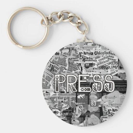 Press Basic Round Button Key Ring