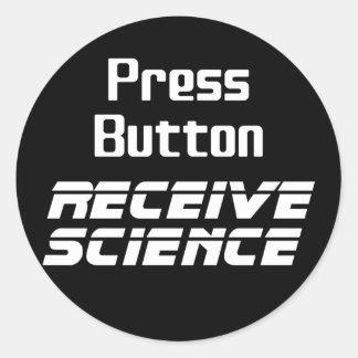 Press Button Receive Science Sticker