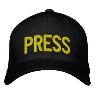 PRESS HAT EMBROIDERED BASEBALL CAP