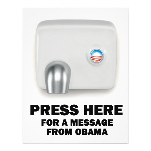 PRESS HERE for a message from Obama Flyer