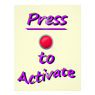 Press To Activate Flyers
