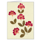 Pressed Bright Pink Tube Flowers Card