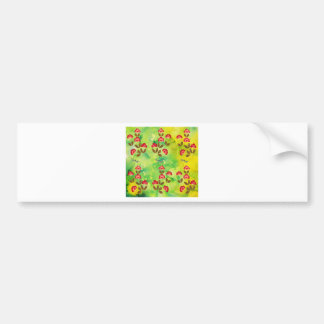 PRESSED FLOWERS BUMPER STICKER