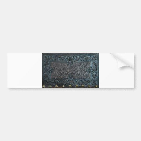 pressed leather sculpture furniture vintage decora bumper sticker