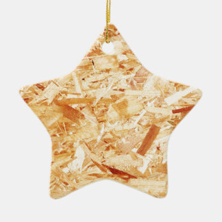 Pressed wood ceramic star decoration
