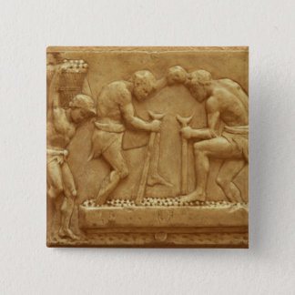 Pressing the Grapes (marble) 15 Cm Square Badge