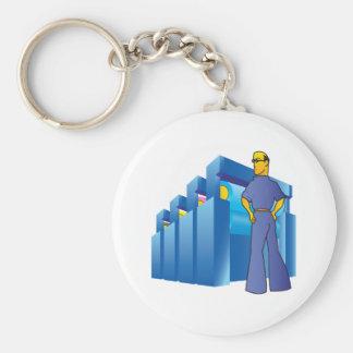 Pressman Basic Round Button Key Ring