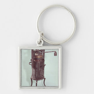 Pressure cooker invented by Denis Papin  1679 Silver-Colored Square Key Ring