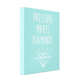 Pressure Makes Diamonds Quote Canvas Print
