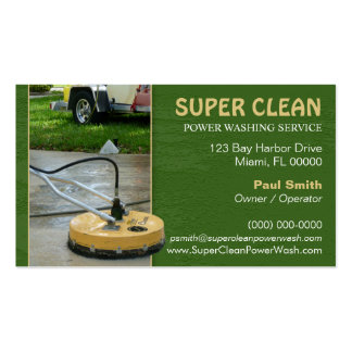 Pressure or Power Washing Business Card