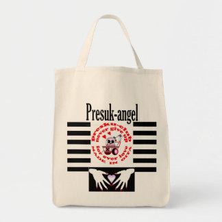 presuk-angel grocery tote bag