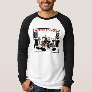 Pretend Rockstar Cartoons T-Shirt