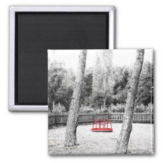 Pretentious Art shot Square Magnet