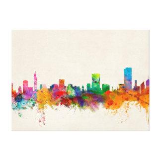 Pretoria South Africa Skyline Cityscape Stretched Canvas Prints