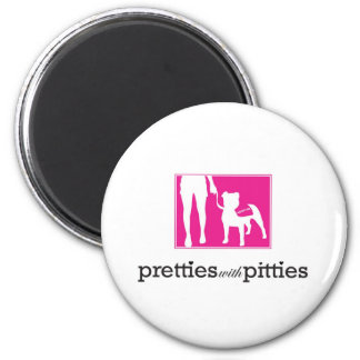 Pretties with Pitties Magnet