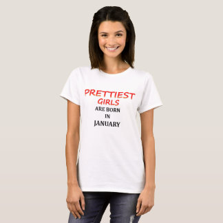 prettiest girls tshirt for january born
