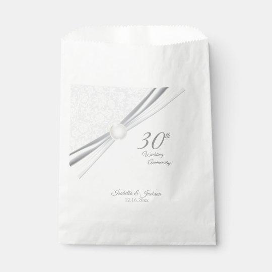 Pretty 30th Wedding Anniversary Design Favour Bags