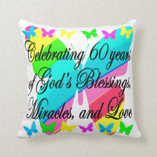 PRETTY 60TH BIRTHDAY GOD LOVING PILLOW