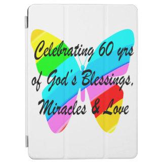 PRETTY 60TH BIRTHDAY RAINBOW BUTTERFLY DESIGN iPad AIR COVER