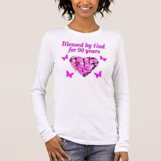 PRETTY 90TH BIRTHDAY FLORAL LONG SLEEVE T-Shirt