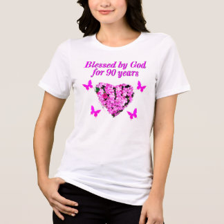 PRETTY 90TH BIRTHDAY FLORAL T-Shirt