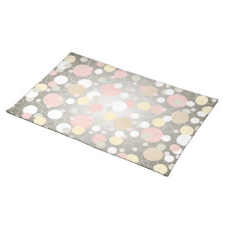 Pretty Abstract Bubbles & Rings Placemat
