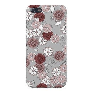 Pretty Abstract Floral Pattern in Muted Girly Pink iPhone 5/5S Case