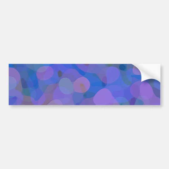 Pretty Abstract in Blue, Purple, and Green Bumper