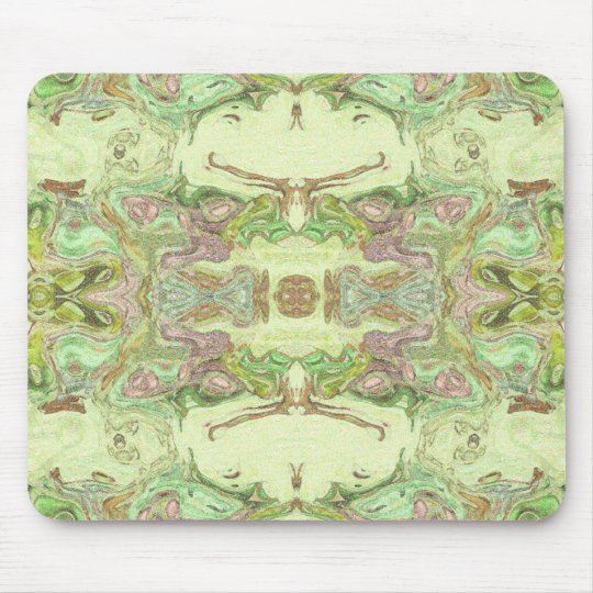 Pretty Abstract in Yellow, Lime, and Pink Mouse Mat