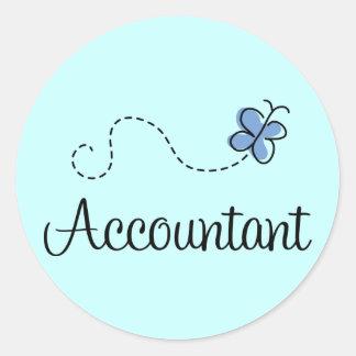 Pretty Accountant Classic Round Sticker