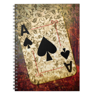 Pretty Ace of Spades Design Notebook