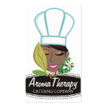Pretty African American woman chef herbs
