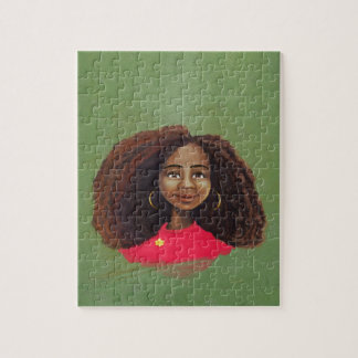 Pretty African Girl Jigsaw Puzzle