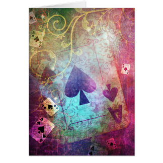 Pretty Alice in Wonderland Inspired Ace of Spades Greeting Card