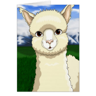 Pretty Alpaca Card