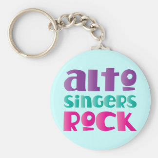 Pretty Alto Singers Rock Gift Key Ring