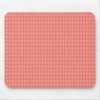 Pretty and Modern Pink Diamond Pattern Mousepads