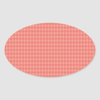 Pretty and Modern Pink Diamond Pattern Sticker