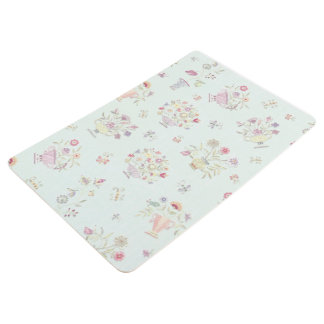 Pretty and Soft Floral Floor Mat