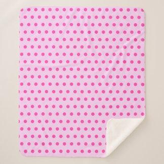 Pretty and Stylish Blush Pink Polka Dot Sherpa Blanket
