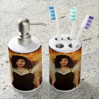 Pretty and unique bathroom accessories Gothic Ange Bathroom Set
