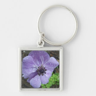 Pretty Anemone Flower Keychains