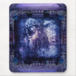 Pretty Angel Ancient Mediaeval Tome Fantasy Book Mouse Pad