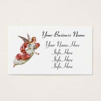 Pretty Angel With Pink Ribbon Business Card